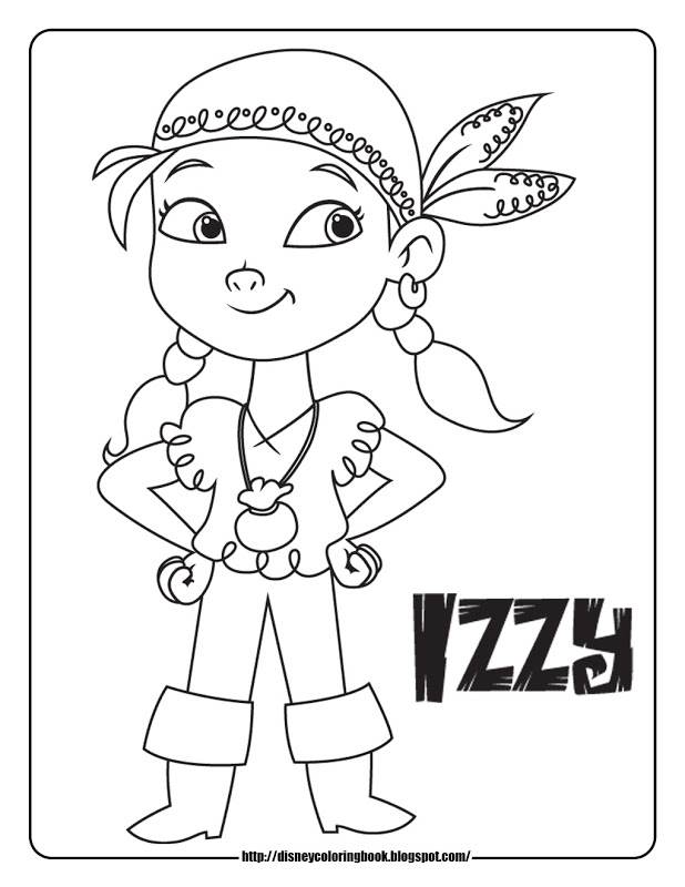 Free printable jake and the neverland pirates coloring for Jake and the never land pirates coloring pages