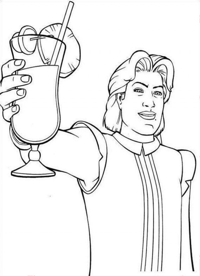 shrek toast for enemy coloring page coloringplus 230622 shrek 2