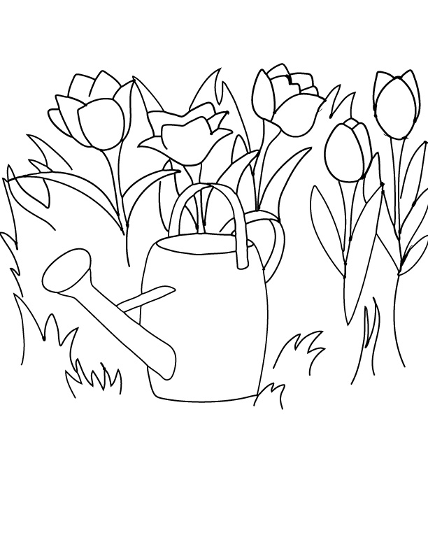April showers coloring pages coloring pages for April showers bring may flowers coloring page