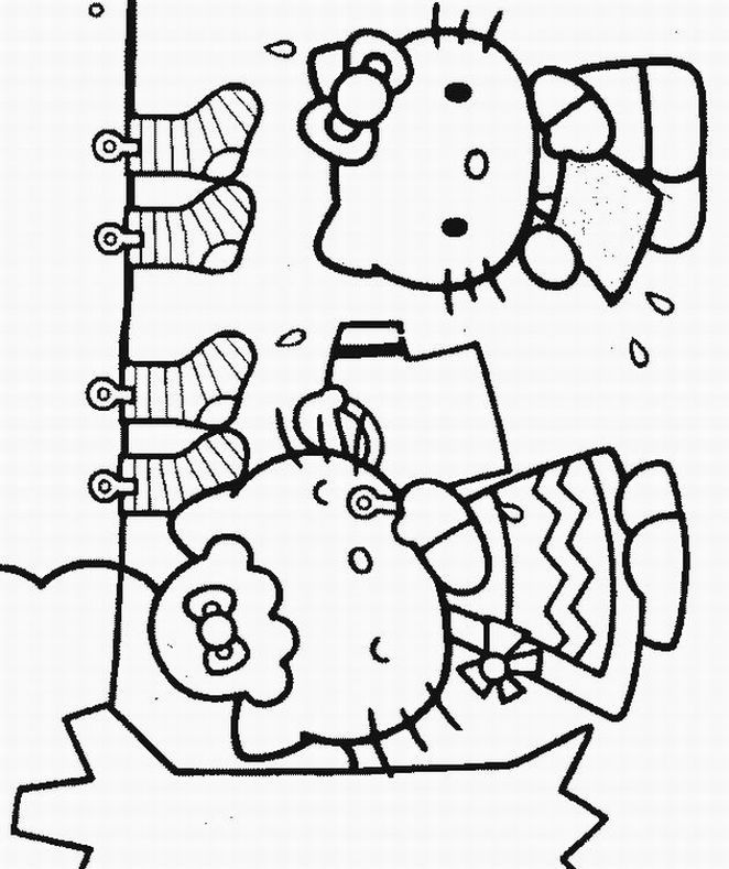 Hello Kitty Coloring Pages Free #1049 | Hello Kitty Coloring Pages