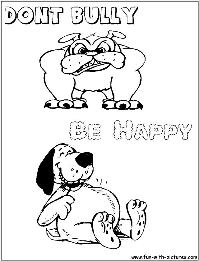 Stop Bullying Coloring Pages Printable Coloring Sheet 99Coloring