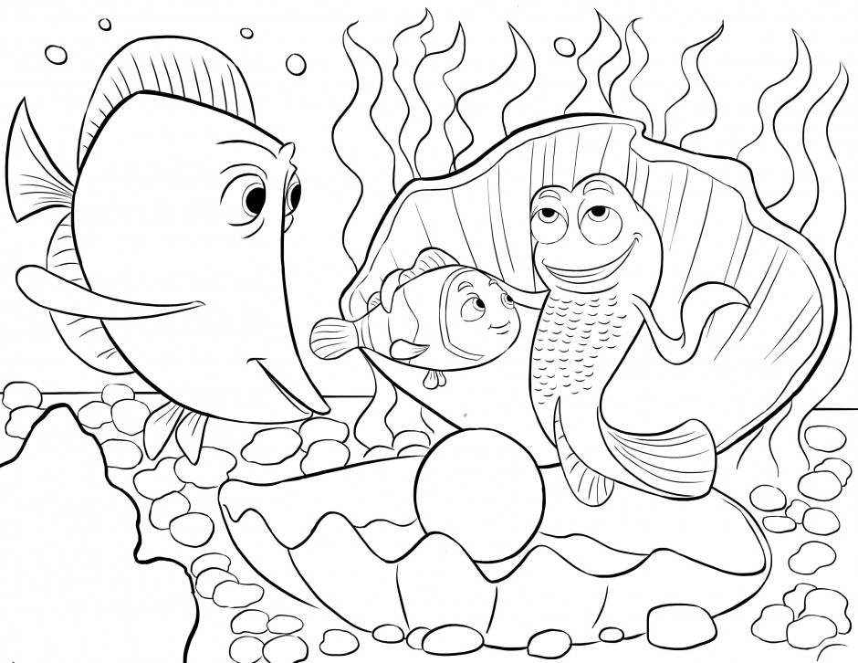Coloring Pages For Under : Under the sea coloring pages az