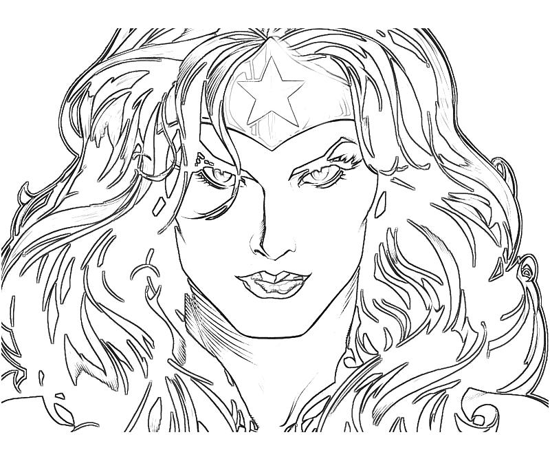 Printable Injustice Gods Among Us Wonder Woman Face Coloring Pages