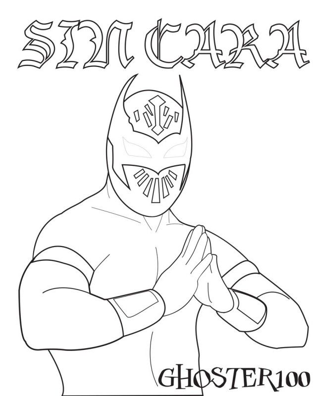 coloring pages wwe - photo#15