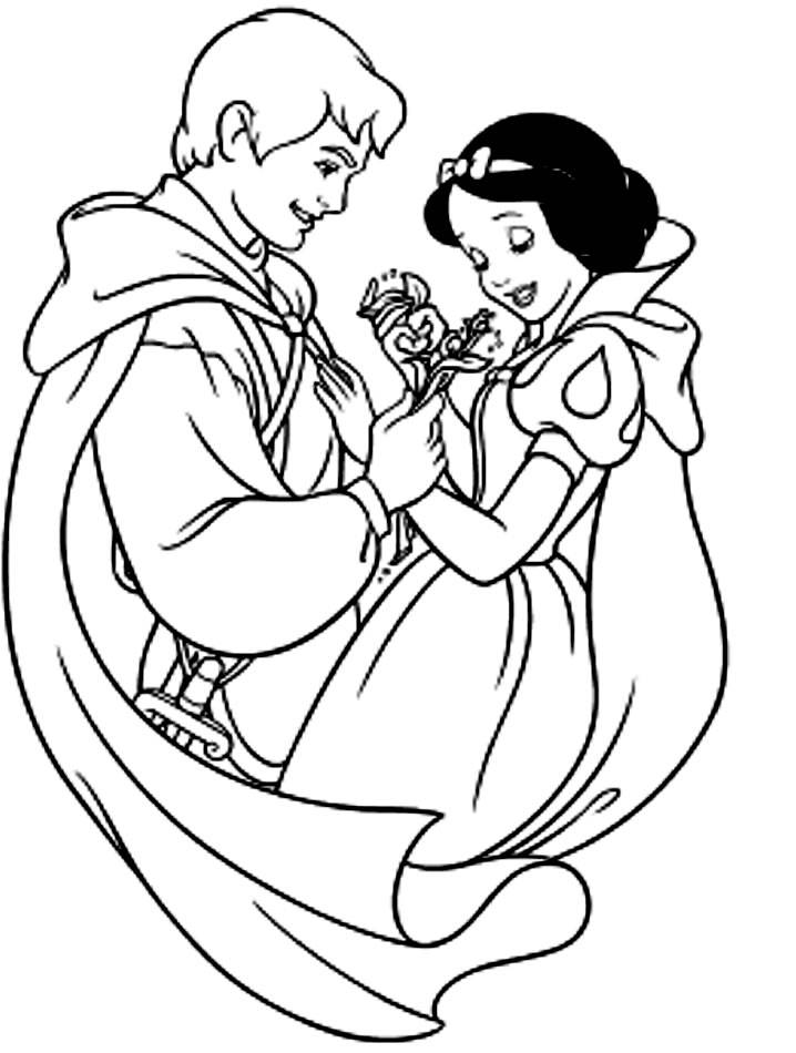 Coloring pages snow white and the seven dwarfs - picture 5