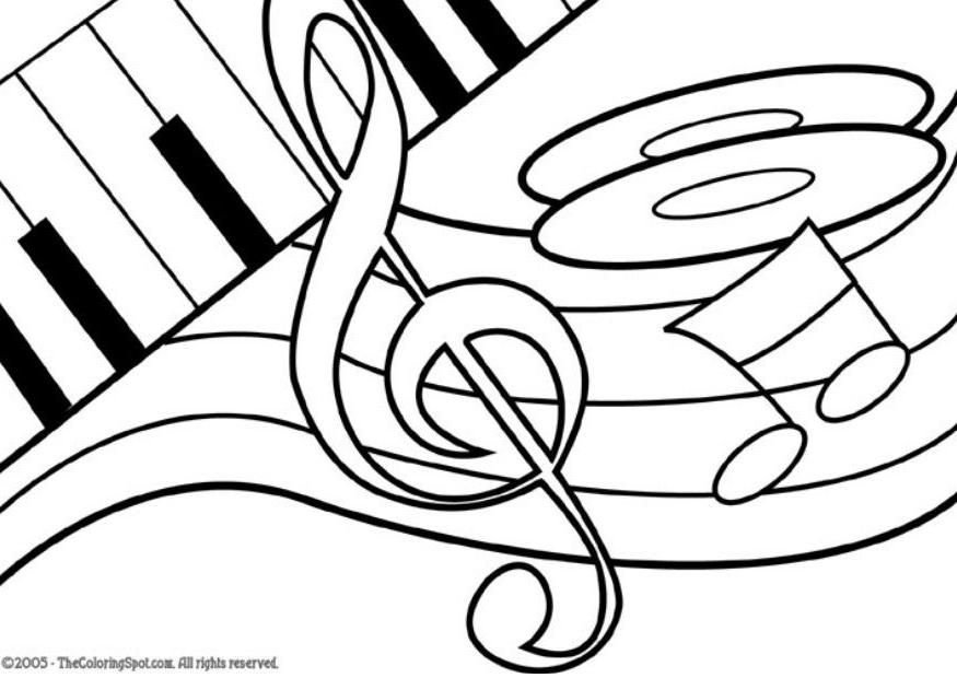 musical instrument coloring pages coloring home