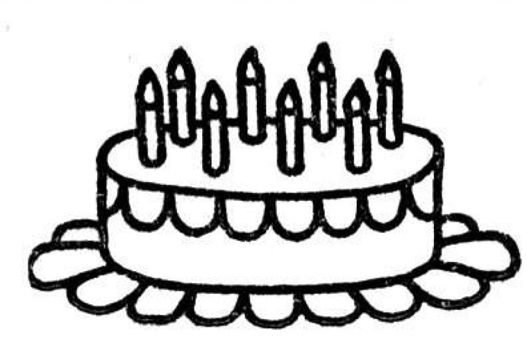 Coloring Pages Of Birthday Cakes - Coloring Home
