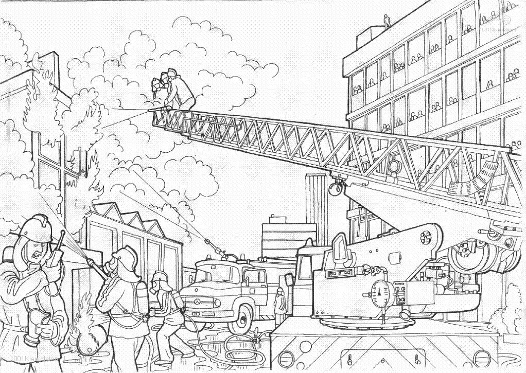 Fire Station Coloring Pages Coloring Home