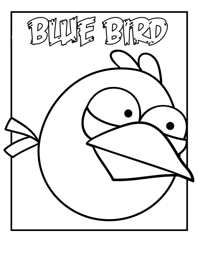 Bird coloring pages for preschoolers az coloring pages for Angry birds rio coloring pages