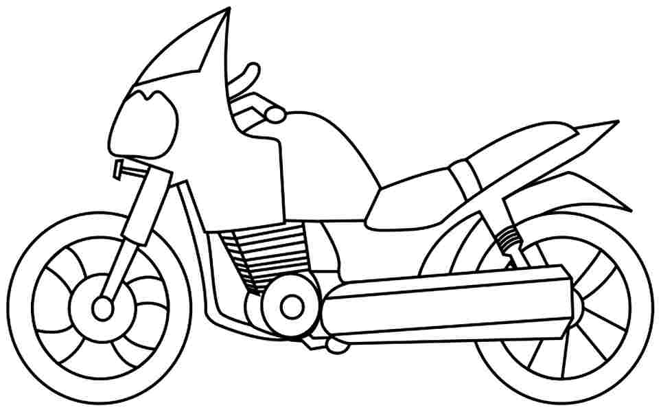 motorcycle color pages - coloring pages of motorcycles coloring home