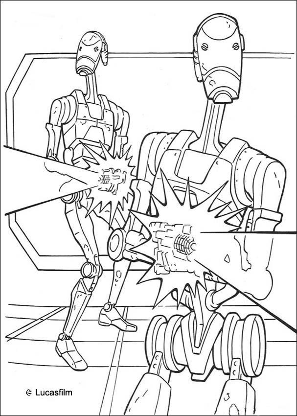 STAR WARS coloring pages - Trade federation robots
