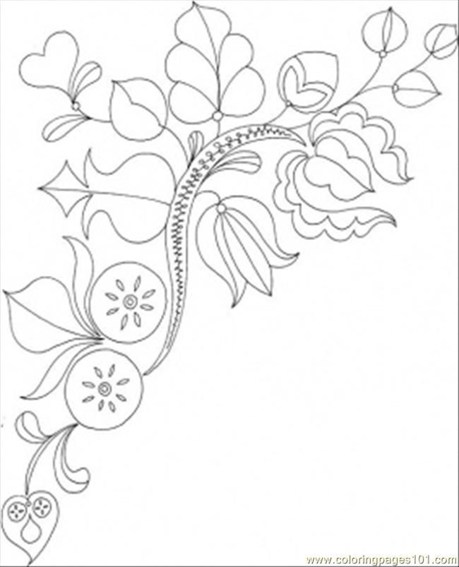 Printable Coloring Page Blooms And Flowers Other Pattern