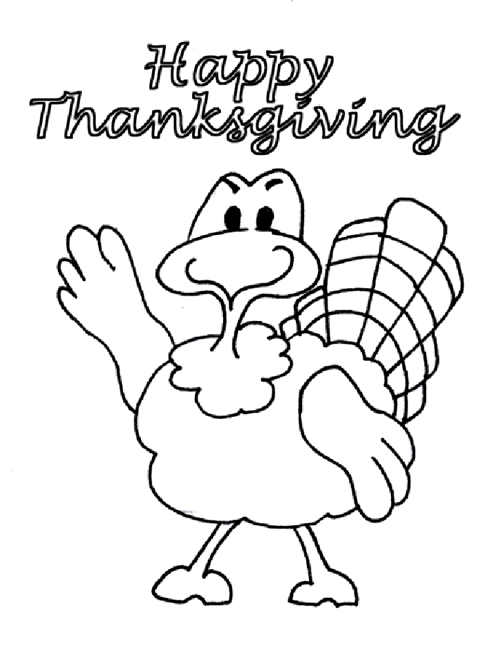 Happy Thanksgiving Turkey Coloring Pages Printables