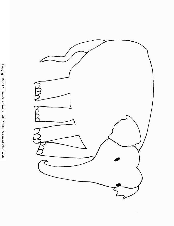 Drew S Animals Coloring Book Asian Elephant Coloring Page Jean Coloring Home