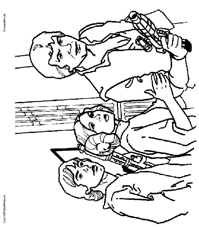Princess Leia Coloring Pages Coloring Home