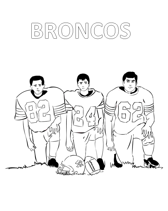 Broncos Coloring Pages Players