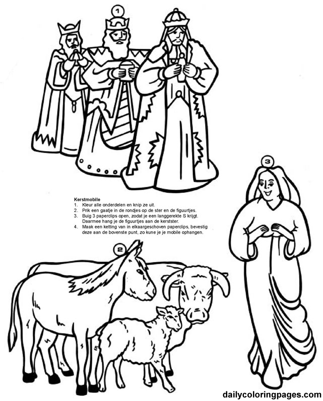 Nativity Scene Coloring Pages - AZ Coloring Pages