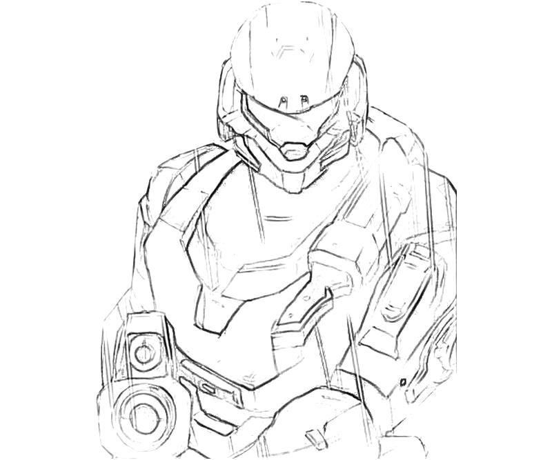 Halo 3 Odst Coloring Pages Coloring
