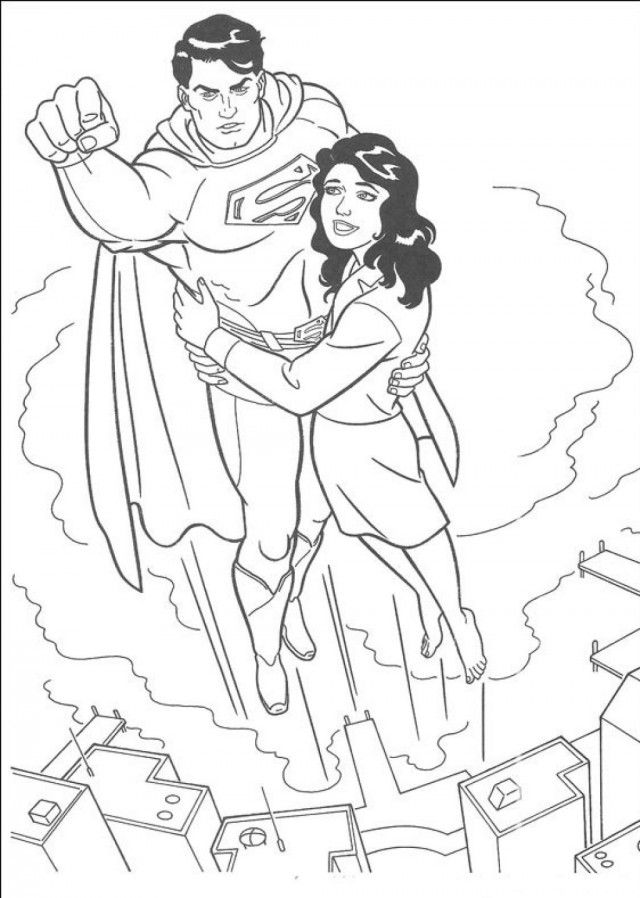 Superman Coloring Page 1860 Free 49897 Superman Color Pages