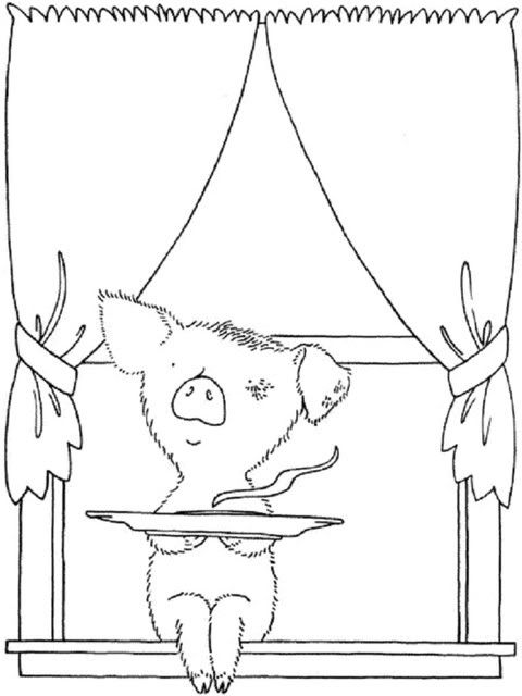 If You Give A Pig A Pancake Coloring Page  Coloring Home