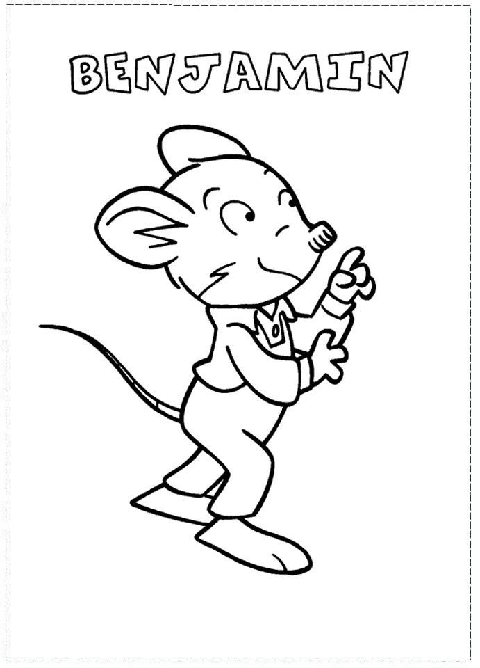 Geronimo Stilton Coloring Pages For Kids Printable Coloring Sheets