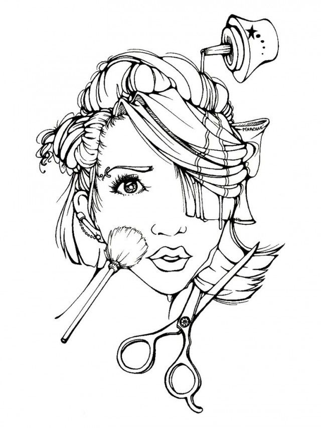 Girly Free Coloring Pages