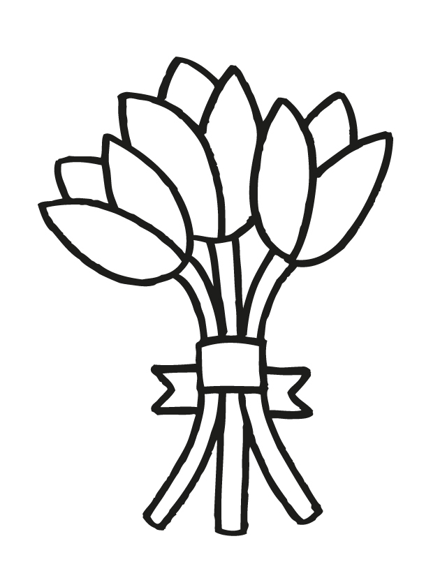 wedding flowers coloring pages