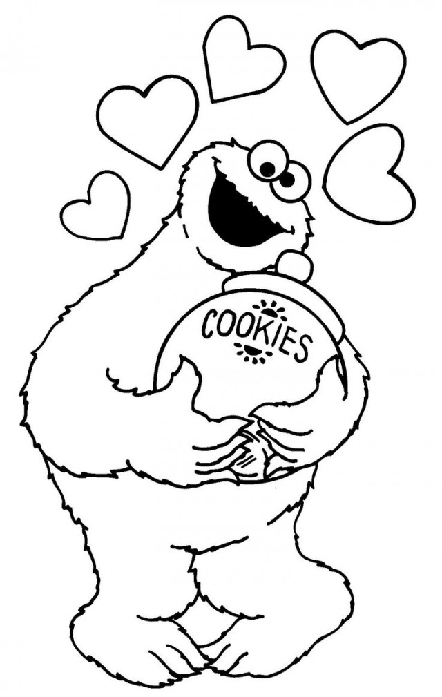 Elmo And Cookie Monster Coloring Pages AZ Coloring Pages