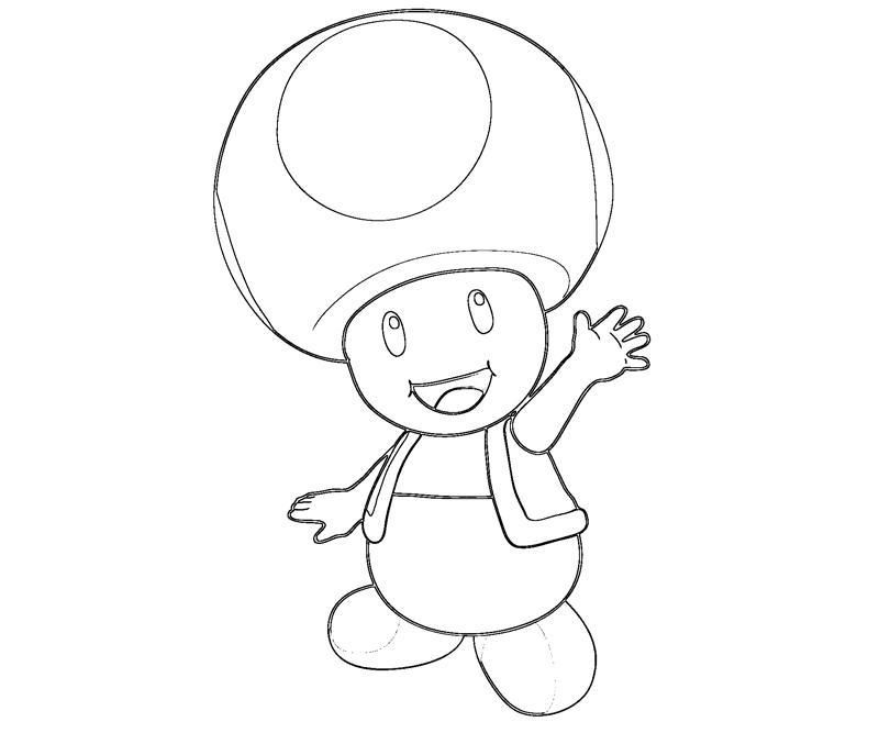 Mario toad coloring pages getcoloringpagescom sketch for Toad and toadette coloring pages