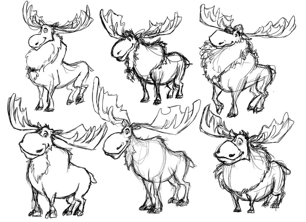 Coloring Pages Moose Coloring