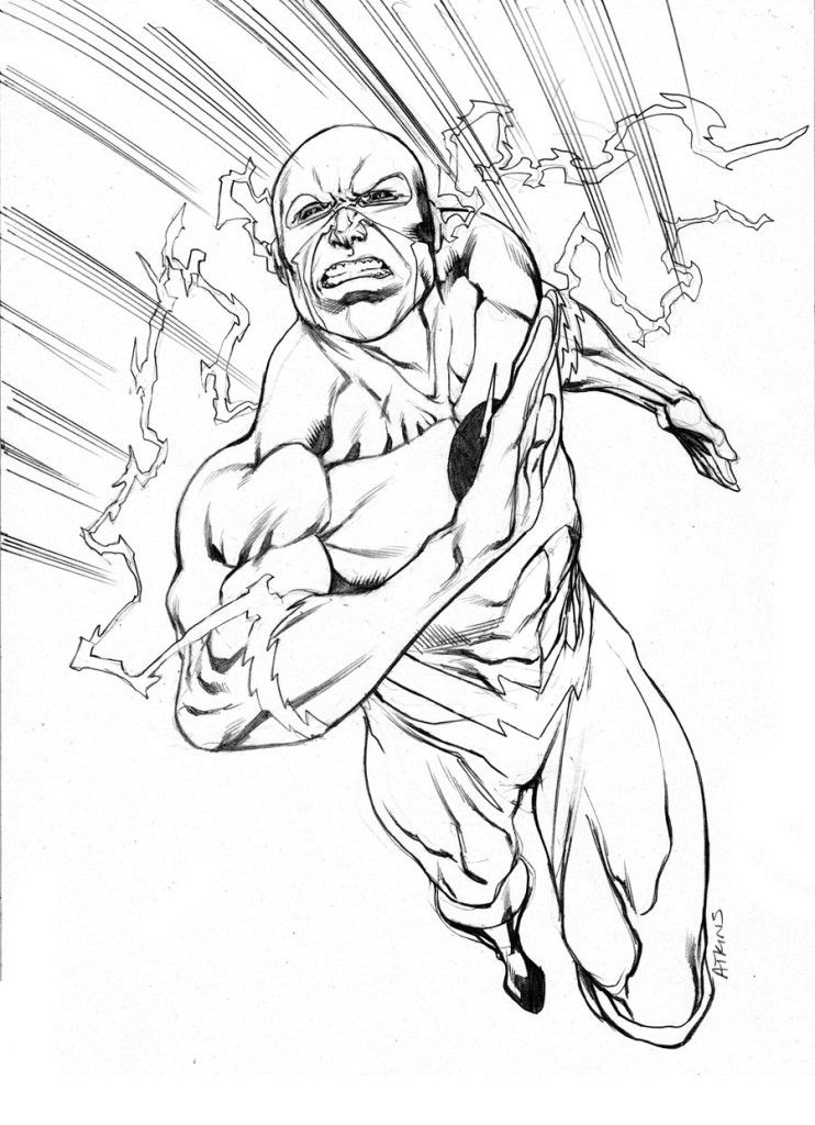 The Flash Superhero Coloring Pages - Coloring Home