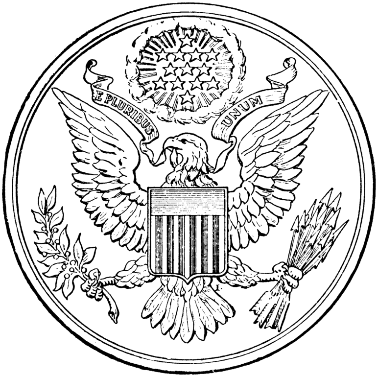 Great Seal Of The United States Coloring Page - Coloring Home
