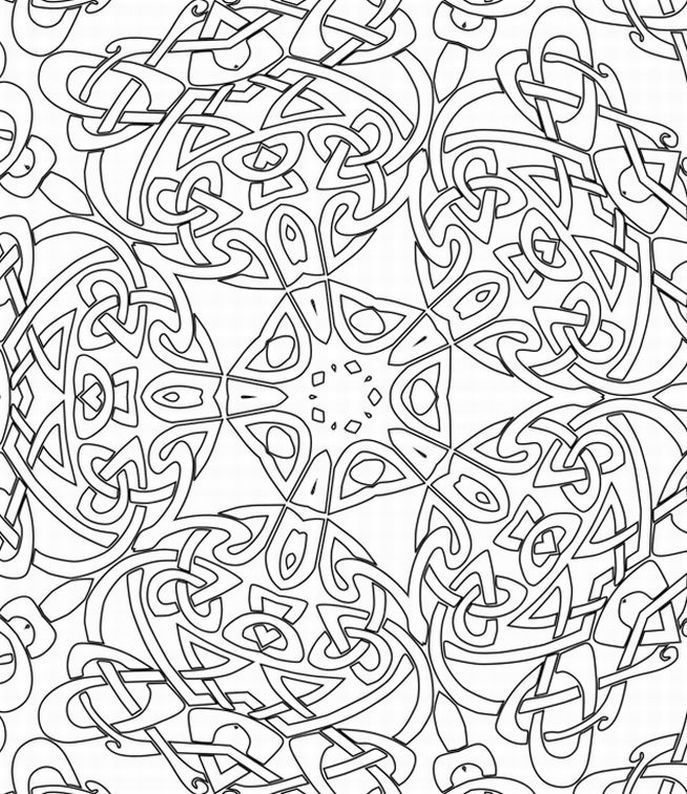 Abstract Design Coloring Pages - Coloring Home