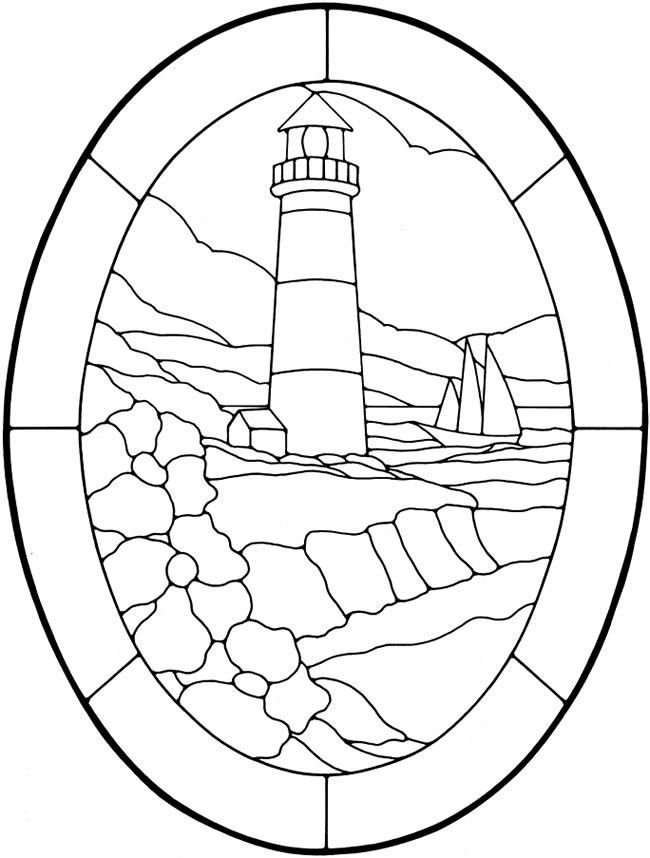 Lighthouse Coloring Page Sheet