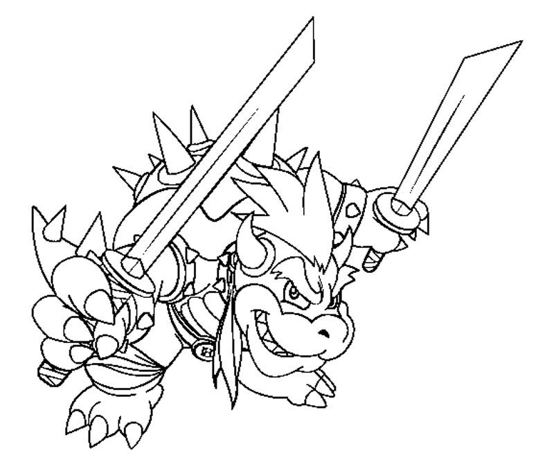 11 Bowser Coloring Page