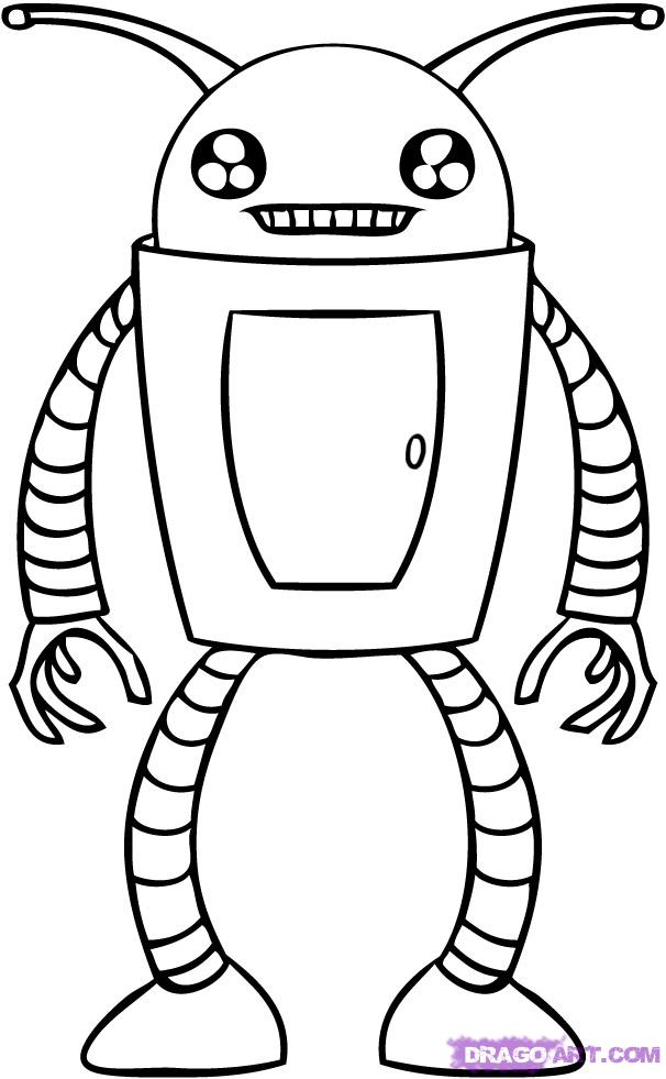 Cool Robots to Draw How to Draw a Cartoon Robot