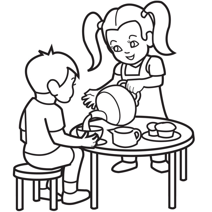 tea coloring pages - photo#26