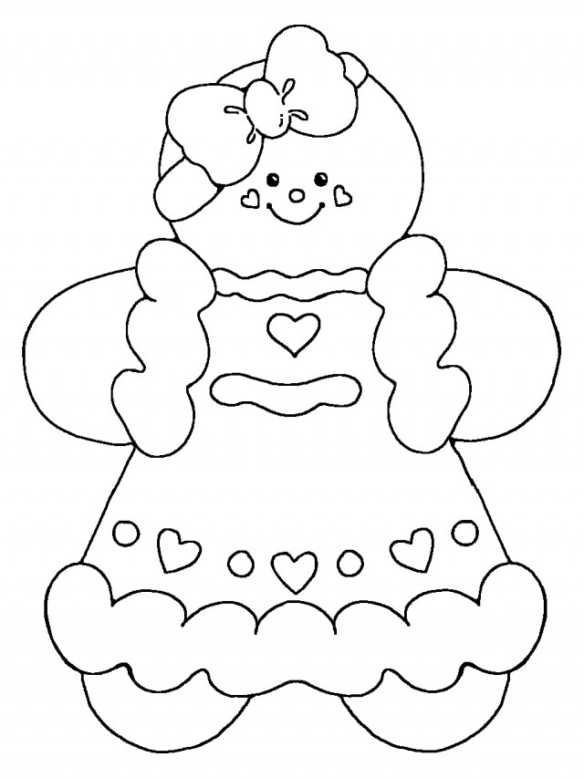 gingerbread coloring book pages - photo#22