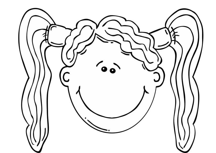 Coloring page girl's face - img 17065.