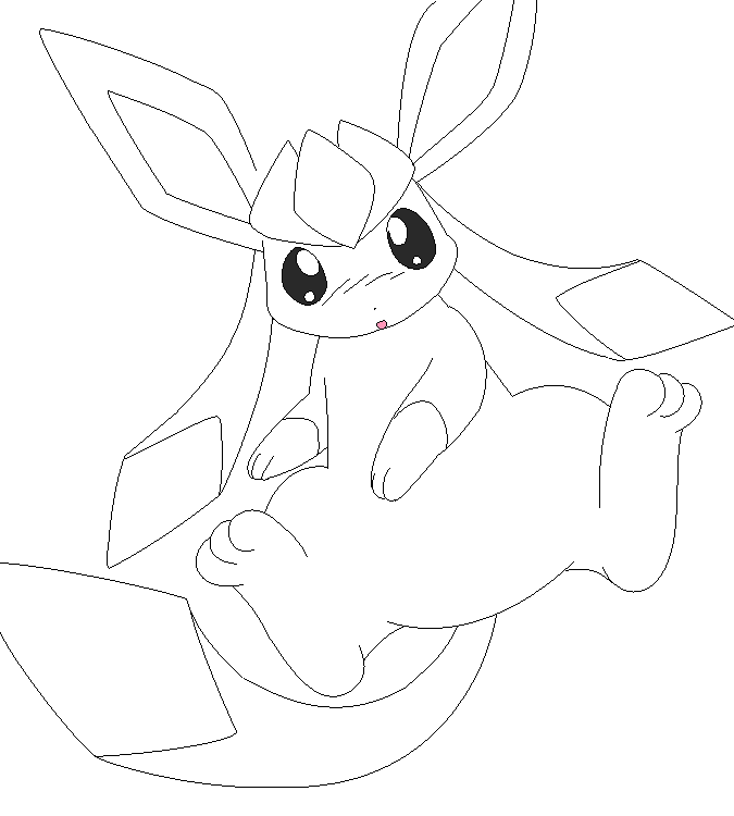Glaceon Coloring Pages Coloring