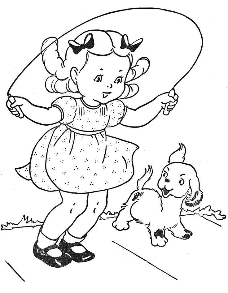 Jump Rope Coloring Pages Coloring Home