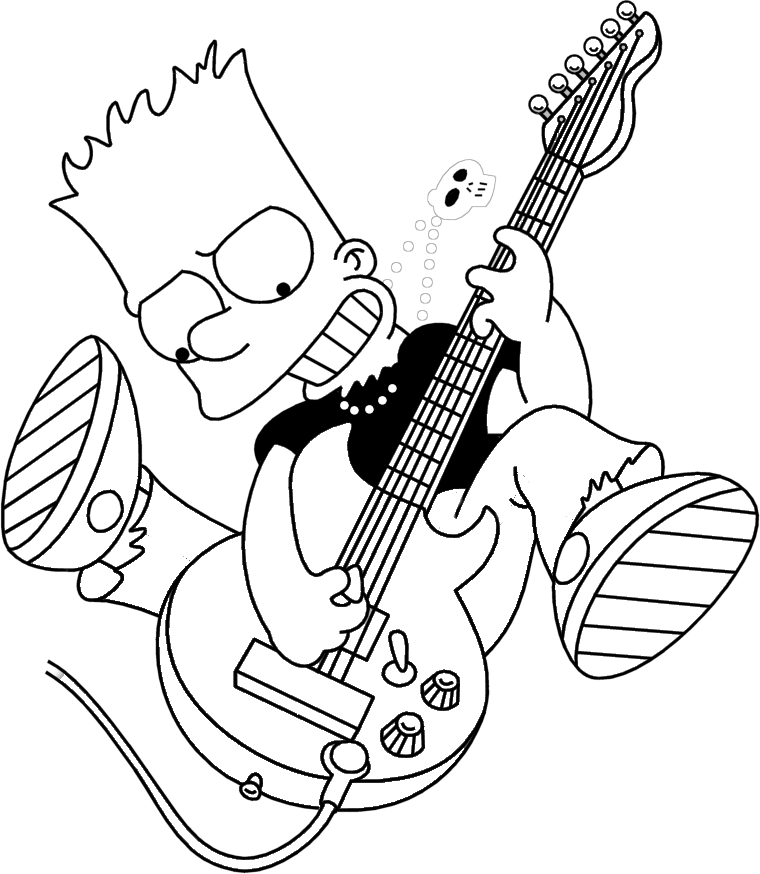 free coloring pages of bart simpsons Maggie Simpson Coloring Pages  Bart Simpson Coloring Pages Free