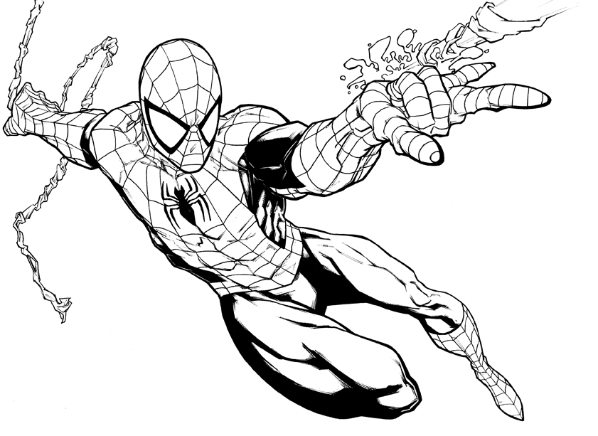 Printable Spiderman Coloring Page