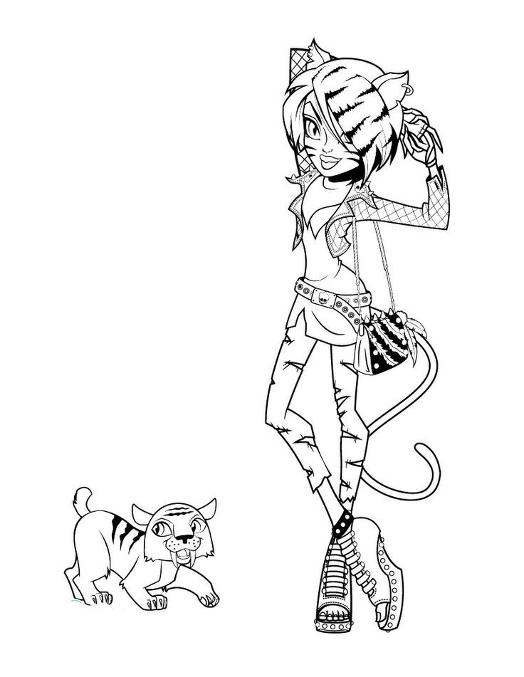 monster high pets coloring pages coloring home