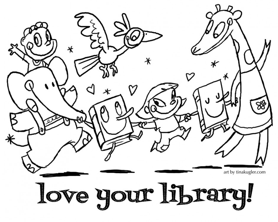 coloring pages librarian - photo#21