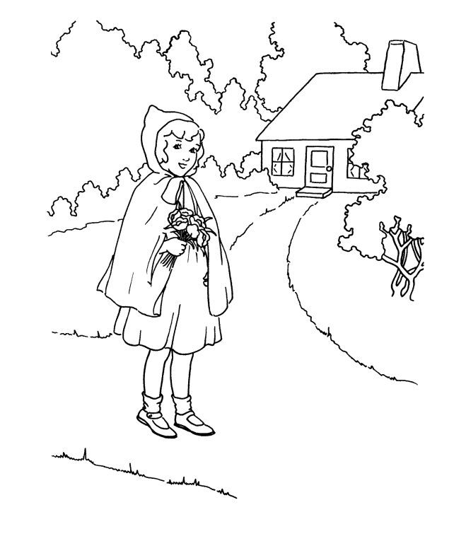 red riding hood coloring pages - photo#33