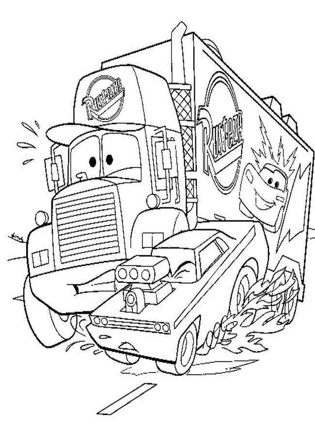 pixar movie cars coloring pages - photo#17