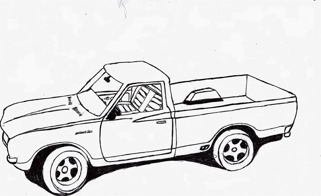 chevy truck outline drawing sketch coloring page
