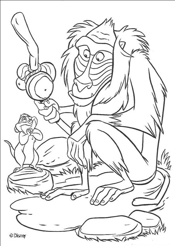 Disney Rafiki Character Lion King Coloring Pages - Disney Coloring