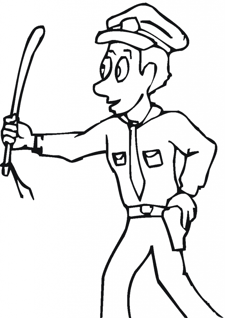 Community Helper Coloring Page
